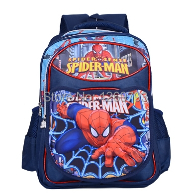 Free shipping Cartoon Spiderman Backpack Boys Students, Cars Ben 10 Children School Bags,Grade School Backpacks for Boys mochila(China (Mainland))