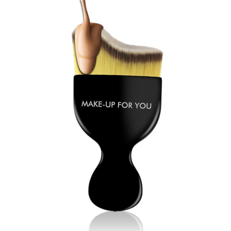 1pcs/lot   Contour curve foundation brush brush  Makeup Cosmetic Brush Professional Beauty tools cleaner kit blending Powder set