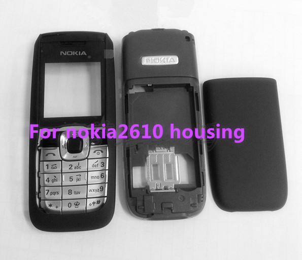Brand new For Nokia 2610 Full Mobile Phone housing Cover Case+Keypad Free Shipping(China (Mainland))