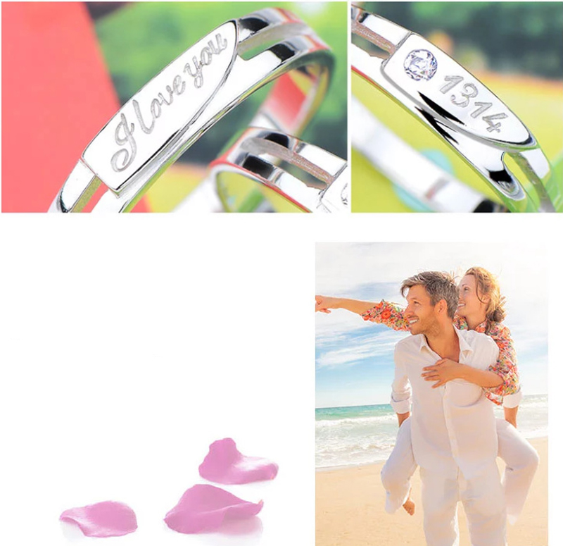 love you in all one's life(1314) lover couple ring wedding ring fashion jewelry for women N(China (Mainland))