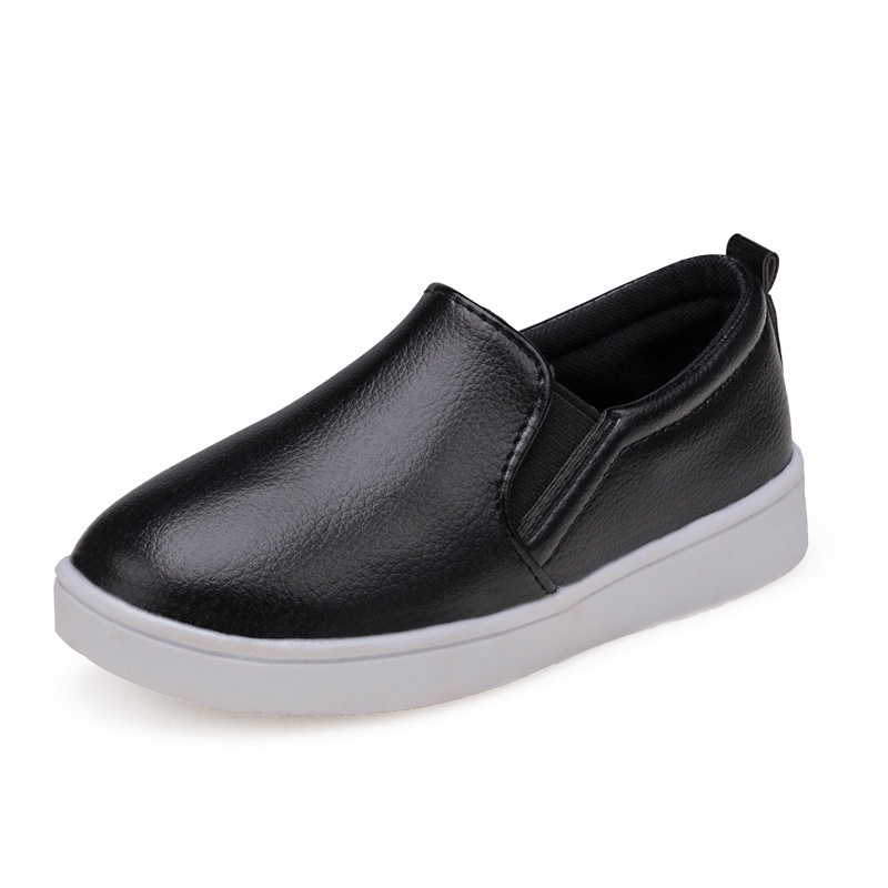 2016 boys and Girls Single Shoes For Summer Autumn Pu Leather Children Shoes Euro Size 21-36 Kids Loafers Girls sneaker(China (Mainland))