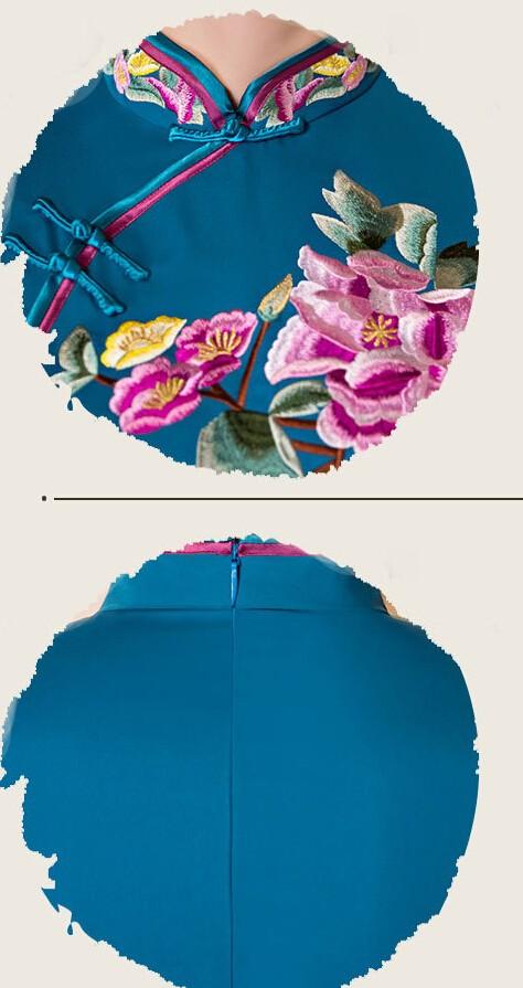 มาใหม่สตรีผ้าไหมยาวCheongsamจีนแฟชั่นสไตล์การแต่งกายที่สวยงามบางQipaoรสเสื้อผ้าขนาดSml XL XXL F072607 ถูก