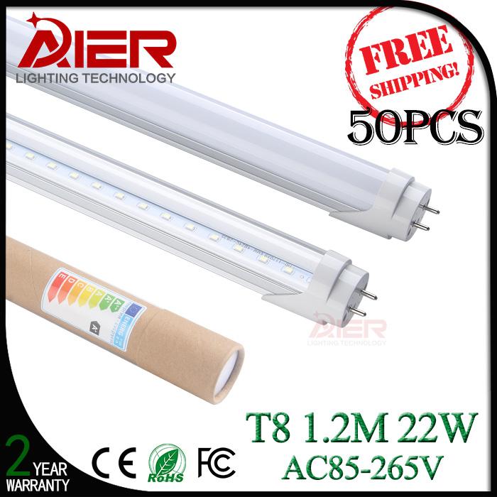 2014 new led tube light t8 1.2M 22W 4ft led t8 light SMD2835 50pcs/lot<br><br>Aliexpress