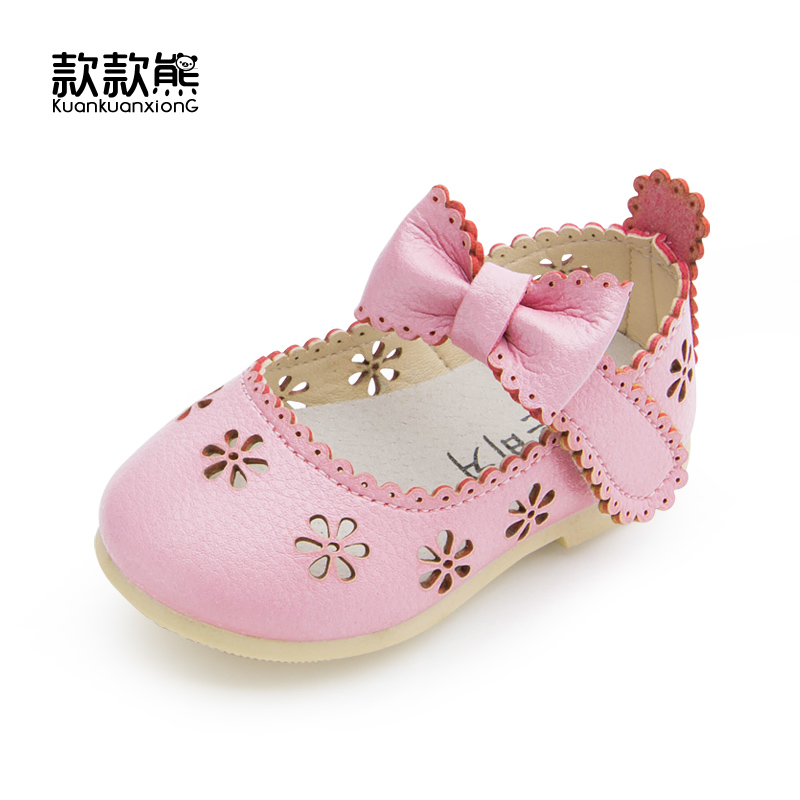 2016 Lovely Spring Autumn New Child Leather Shoes for Girls Flat With Fashion Baby Shoes Kids Children Princess Leather Shoes(China (Mainland))