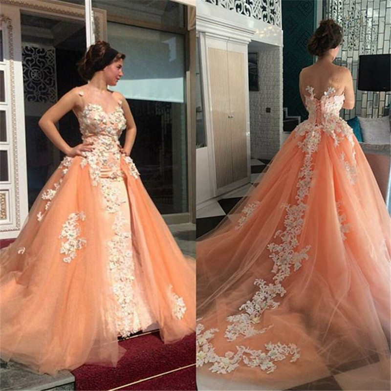 Luxury 2019 New Elegant White Applique