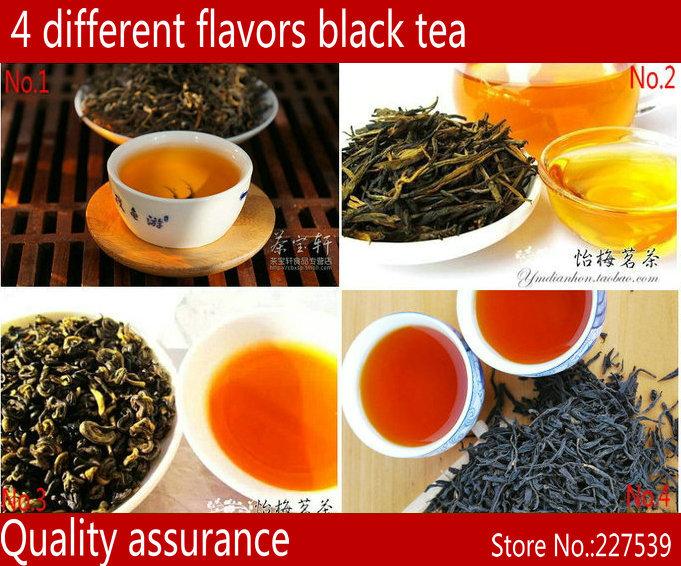4 different flavor black tea 20g inlcuding Black dianhong tea, dianhong maofeng, zhengshanxiaozhong , red biluo free shipping(China (Mainland))