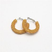 QUMORAIN 13 Colors Fashion Charm Austrian crystal hoop earrings Geometric Round Shiny rhinestone big earring jewelry wome(China)