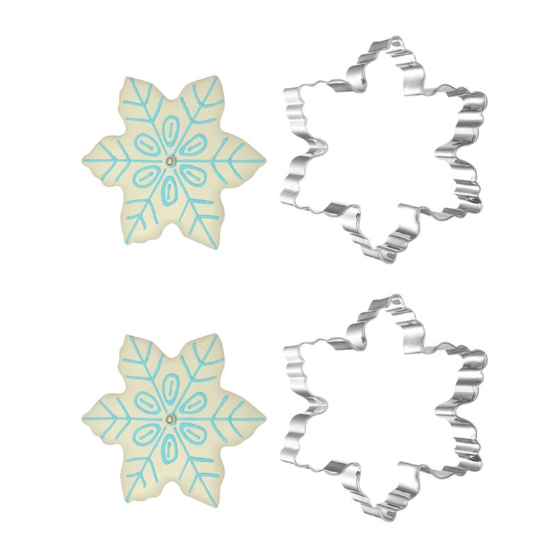 New Stainless Steel Star Snowflake Biscuit Cutter Cookie Fondant Cake Mould Icing Mold DIY Baking Tool(China (Mainland))
