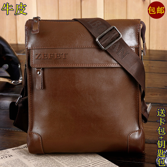 Business bag classic male shoulder bag man bag casual bag messenger bag genuine leather bag briefcase