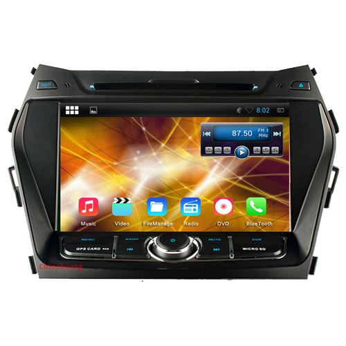 Quad Core HD 1024X600 Android 4.4 Car DVD for Hyundai IX45 Santaf Fe 2013 2014 with Radio GPS Navigation BT WiFi Mirror Link(China (Mainland))