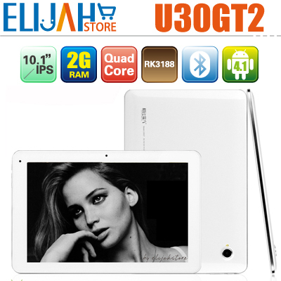 "Original 10.1"" Cube U30gt2 Quad Core tablet pc 10.1 inch IPS 2G Ram 32g Memory Rockchip 3188 Android 4.1 Bluetooth U30gt II GT2"