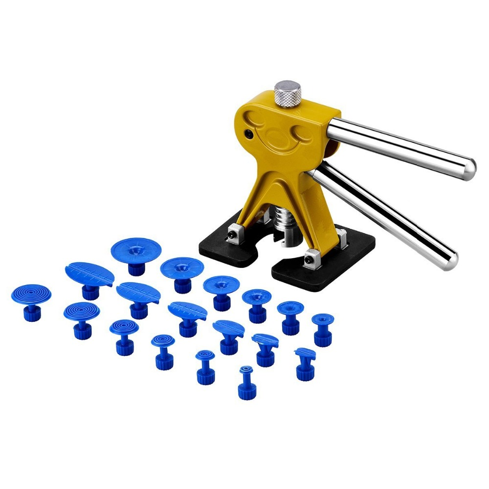 19 Pcs Auto Body Paintless Dent Removal Repair Tool Kits - Glue Puller Smile Dent Lifter With Glue Puller Tabs<br><br>Aliexpress