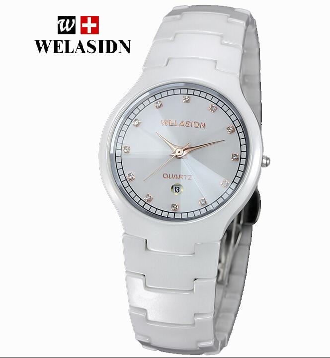 AAA+quality Welasidn Luxury Gift For Lovers High-Tech Ceramic Quartz Wristwatch 5229+Original box ,HongKong Post Free shipping<br>