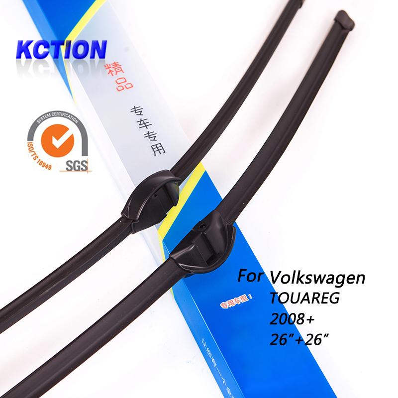 "Car Windshield Wiper Blade For Volkswagen TOUAREG(2008+) , 26""+26"", Natural rubber, Bracketless, Car Accessories(China (Mainland))"
