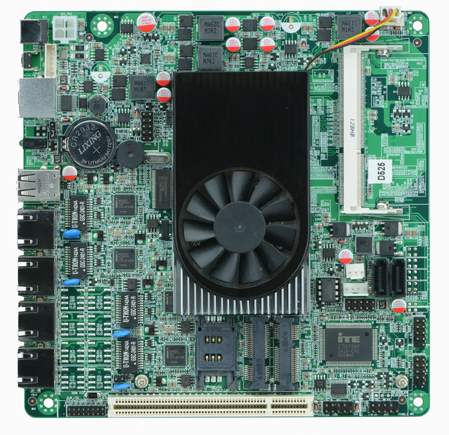 Onboard Atom D525 firewall motherboard mini itx 4 lan 1000M Intel 82583V ethernet SSD 3G WiFi(China (Mainland))