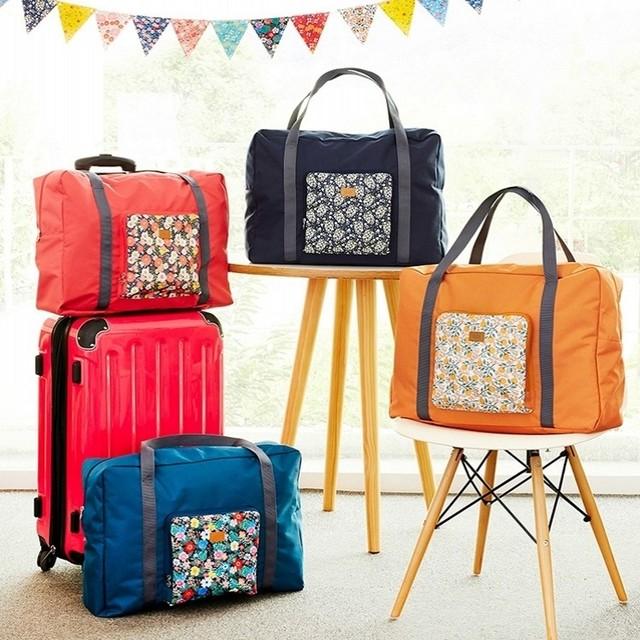 Новый стиль мода дорожная сумка большой емкости женщин складной цветы плеча вещевой ...