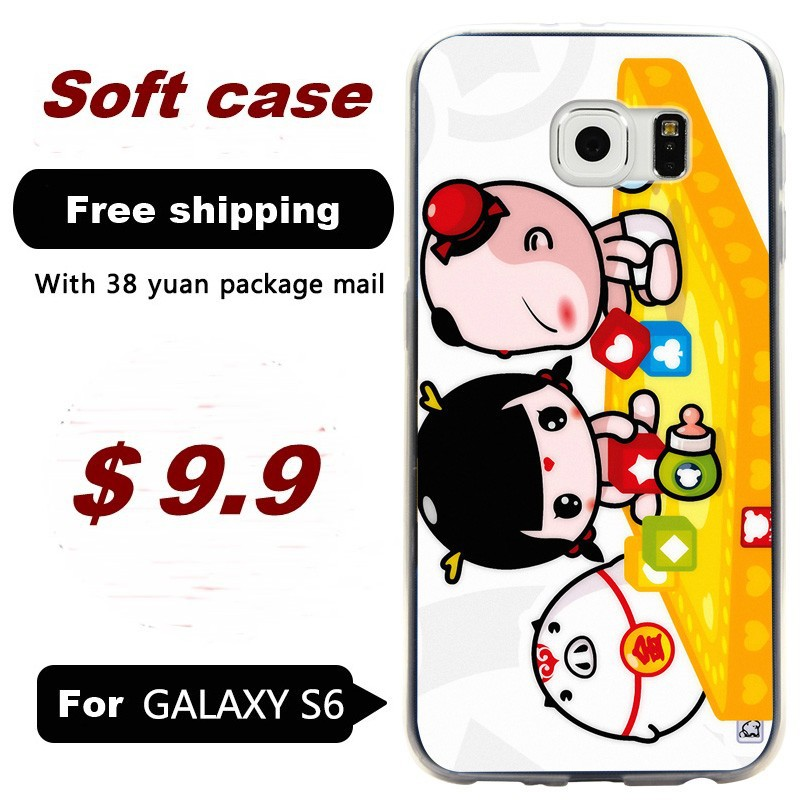 For Samsung Galaxy S6 PC Hard back shell protective cases painted G9200/G920F/ mobile phone casing China Doll 4(China (Mainland))