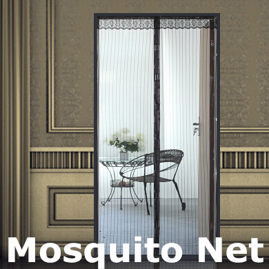 New Summer Screen Door Prevent Mosquito Curtain Portiere Magnetic Stripe Magic Mesh Mosquito Net #8364(China (Mainland))