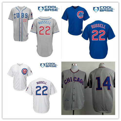 Cheap chicago cubs jerseys #14 Ernie banks jersey 1968 throwback Banks 22 Logan Watkins cool base jersey free shipping(China (Mainland))