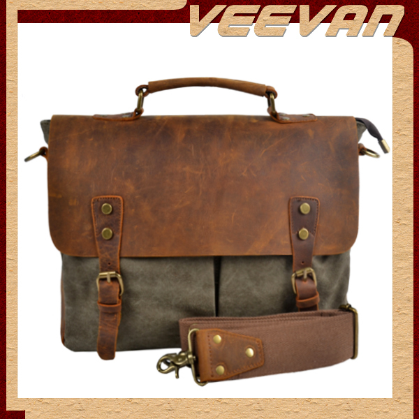 2014new male single-shoulder bag leather men messenger bags new arrival fashion and Retro canvas bag free shipping MBBSB00094(China (Mainland))