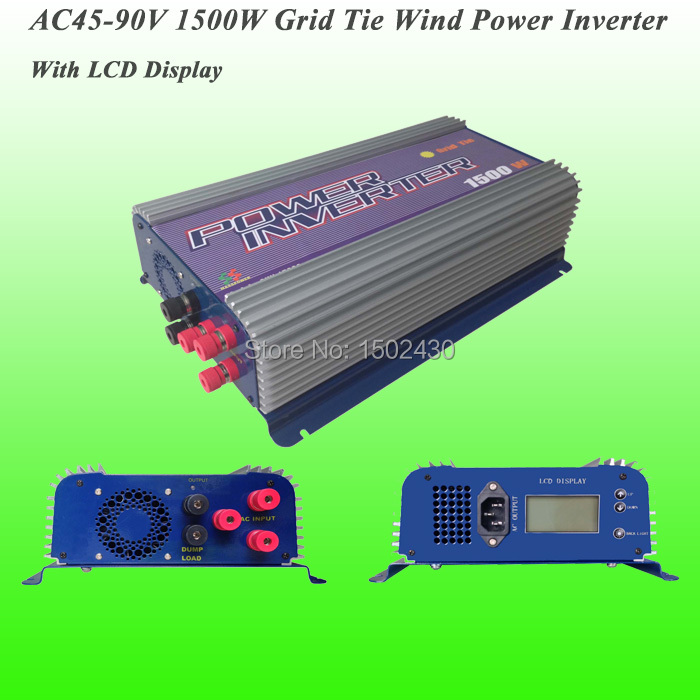 2016 Hot Selling 1500W Three Phase AC45V~90V Input, AC 230V Output SUN-1500G-WAL-LCD-48V Grid Tie Wind Power Inverter(China (Mainland))