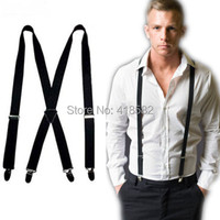 BD002-- Fashion 26 colors 4 clips Men's suspenders 2.5 cm adjustable elastic women pants Braces free shipping