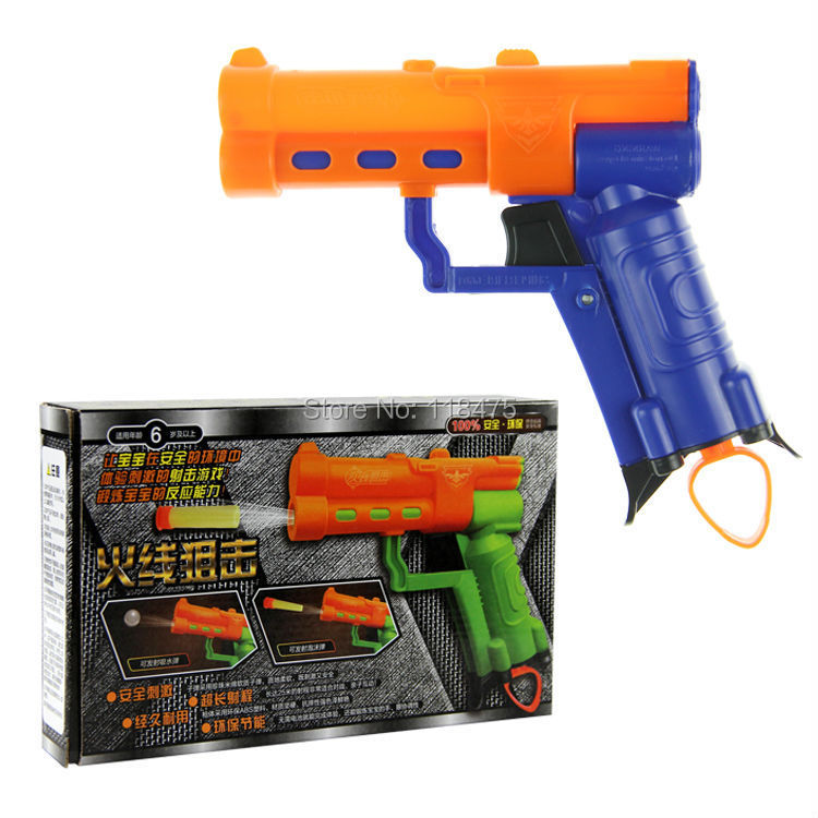 Safe Gun Pistol & Soft Bullet Plastic Toys CS Game Shooting Water Crystal 2-in-1 Nerf Air boy toys - Toy_block_Building Kits store