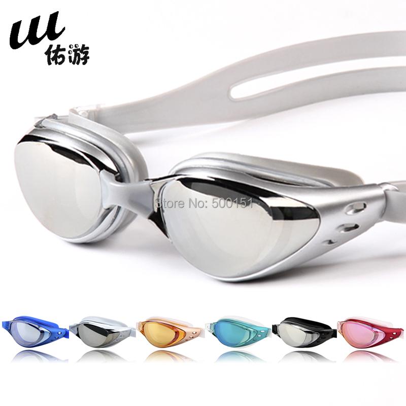 Free Shipping Anti-fog waterproof UV Protection Prescription Swimming Goggles Myopia Swimming Glasses 100 to 1000 diopter(China (Mainland))