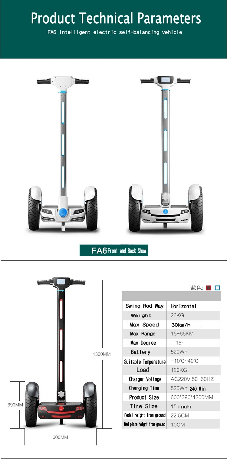 15 Inch High Tech Materials two-Wheel Self balancing scooter transporter Vehicle off road Motocross Hoverboard with LED Display 19
