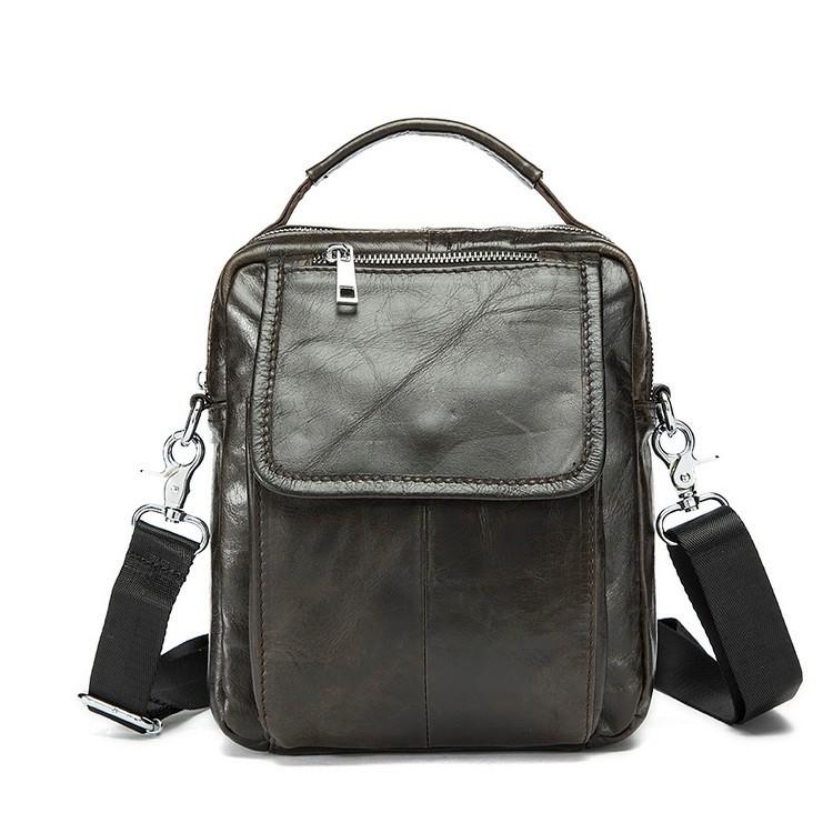 2016 Genuine leather men bag small shoulder bags men messenger bags crossbody bag mens leather handbag Hot sale free shipping(China (Mainland))