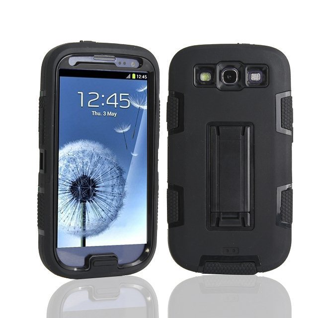 Triple Layer Shockproof Defenered Case Cover for Samsung Galaxy I9300 S III Neo I9301 SIII Neo+ i9300i SIII Duos Stand Case(China (Mainland))