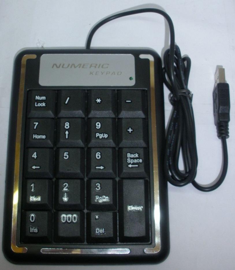 free shipping USB Mini Silicone Waterproof Keyboard Pad for Laptop/PC Numeric keypad(China (Mainland))