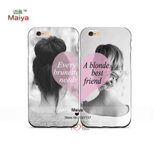 2pcs/lot BFF best friends girly Lover Phone Cases For Iphone6 6plus Case Cover Valentine's gift