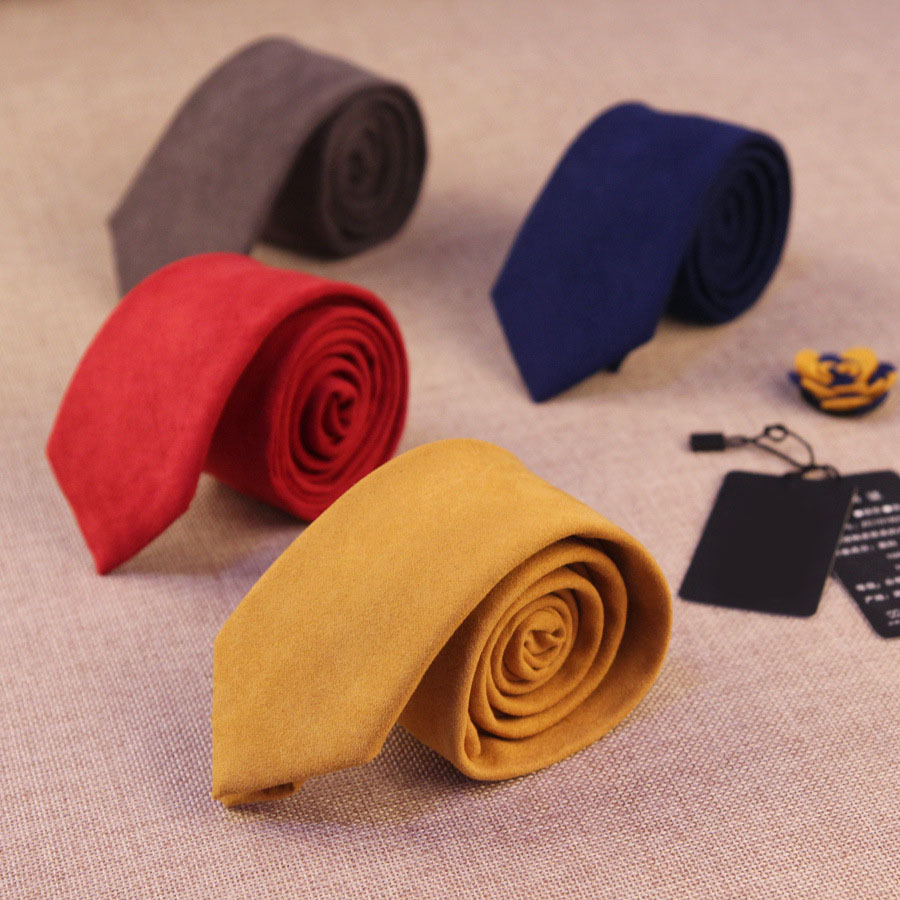 Designer Knitted Neck Ties Narrow Skinny Neckties For Men New Fashion Male Brand Slim Men Ties