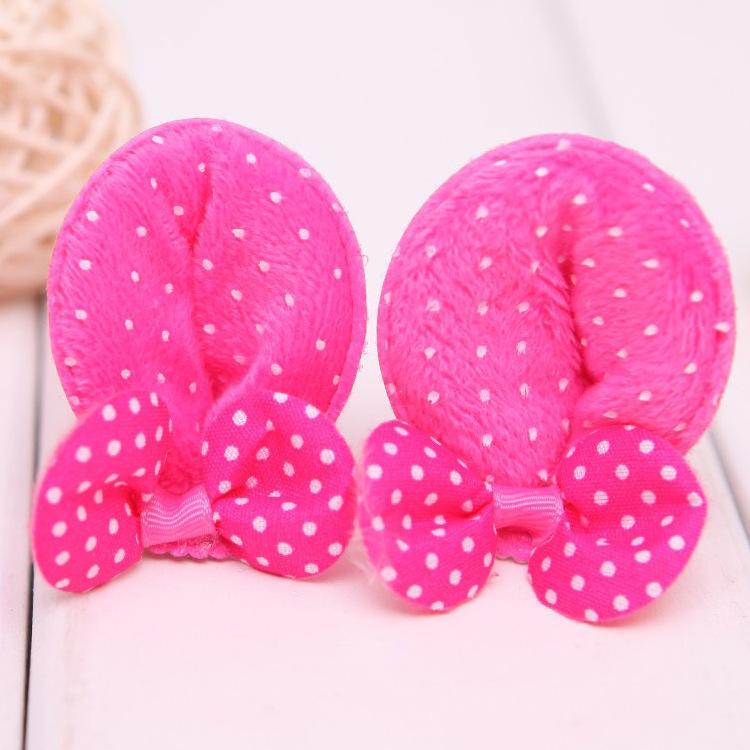 2pcs/lot cute bow Decoration mickey ear kids hair accessories baby girl BB clips hair clip hairgrip hairpins children ornaments(China (Mainland))