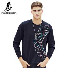 Pioneer Camp 2017 новое поступление мужская футболка случайная кофта О-воротник высококачественый материал модный модель 622166(China (Mainland))