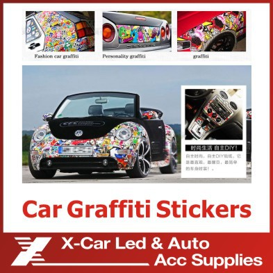 60-480pcs Waterproof Glossy Film Car Sticker Doodle Decoration Bicycle Motorcycle Travel Case Sticker Car Styling Home Decor(China (Mainland))