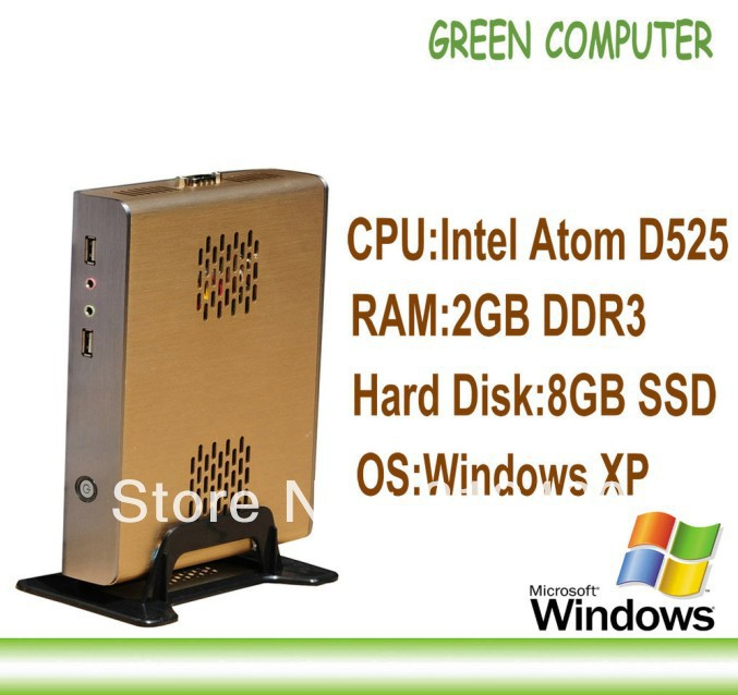 2013 Last X86 Desktop Computer Thin Client Network Terminal Tablet with Windows XPE Embedded D525 CPU 2GB RAM 8GB SSD(China (Mainland))