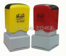 5Pcs Rectangle 20x20mm Holder plus Rubber Pad for Photosensitive Portrait Flash Stamp Machine(China (Mainland))