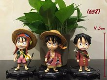 3Pcs/Set One Piece Luffy 74 Edition Action Figures Monkey D Luffy Dolls PVC ACGN Japanese Anime Figure Toys Dolls