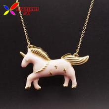 New Arrival Unicorn Pendant Fashion Designer Vintage Enamel Animal Long Necklaces & Pendants for Women accessories collar bijoux(China (Mainland))