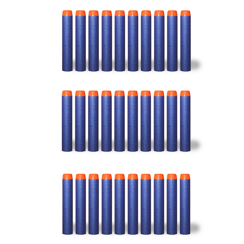 30Pcs/lot 7.2cm EVA N-strike bullets Cololful Toy Series Blasters Refill Clip Darts for Children Toys Outdoor Fun & Gun Sports(China (Mainland))