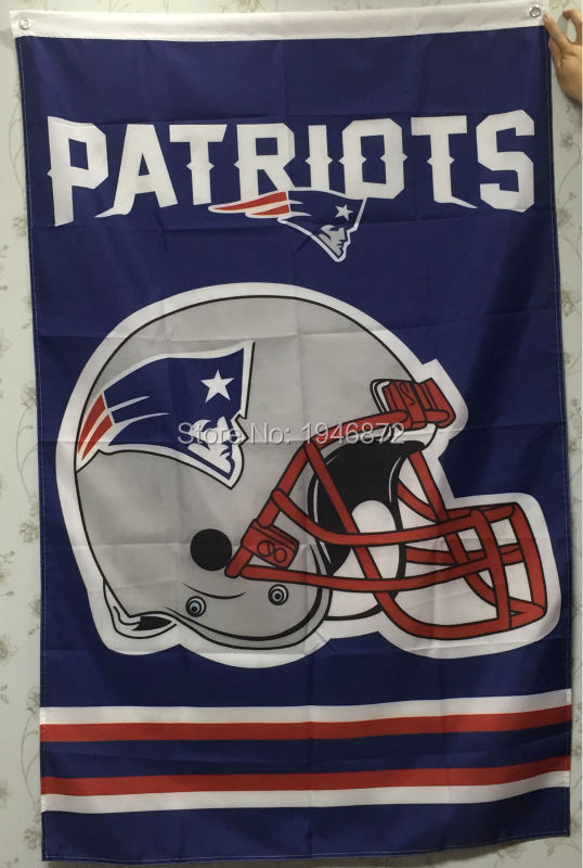 New England Patriots Large Outdoor Helmet Blue Flag 3X5FT(China (Mainland))