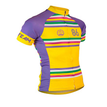 Buy men cycling jersey 2016 pro team short sleeve pink yellow mtb road race jersey Cycling clothes bike jersey ropa ciclismo maillot for $14.52 in AliExpress store