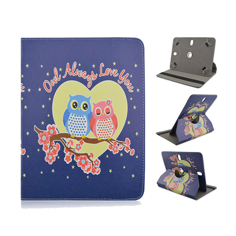 Hot!!Spot Loving Owls cover skin for universal tablets 7 inch protective sleeves surface pro 3 shell for kindle paperwhite case(China (Mainland))