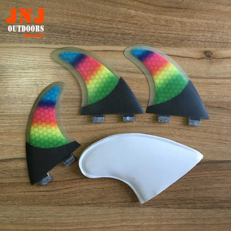 Colorful ladies surfboard fin FCS G5 surfing fin strongest carbon fin FCS M fin(China (Mainland))