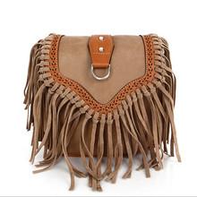 2016 Fashion Small Tassel Bag Women Bags Ladies Casual PU Leather Fringe Saddle Crossbody Messenger Shoulder Bag Bolsa Feminina