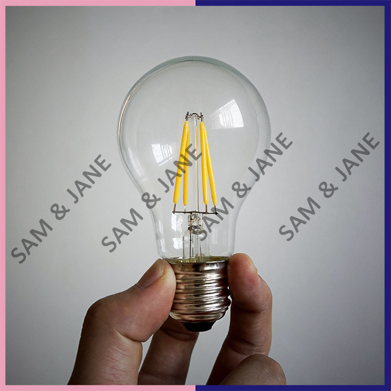 5 PCS Newest High brightness LED Bulb E27 4W 220V 230V warm white Edison light fixture bulb LED fIlament candle tubes(China (Mainland))