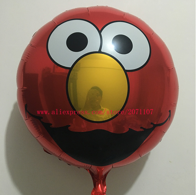 Lucky 50pcs/lot 18inch Sesame Streets Elmo Balloon Foil Helium Balloons Metallic Ballons For Decoration Kids Party Baloons Toys(China (Mainland))