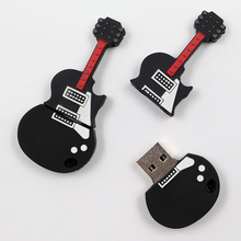 Real capacity Guitar USB 8GB 16GB 32GB 64GB Flash Memory Stick Pen Drive Disk for Laptop Computer,thumb/drive/gift(China (Mainland))